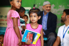 NAHAR is supporting five Masjid based Quran learning programs and five primary based schools inside the Rohingya refugee camp. Around 2500 children received educational materials, and toys through this initiative.